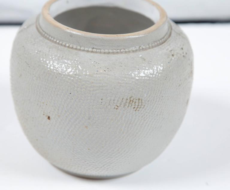 19th Century Blue Glaze Stoneware Covered Jar For Sale 1
