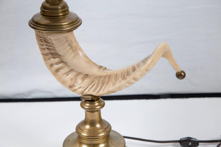 Vintage Ram's Horn Table Lamp, 20th Century For Sale 2