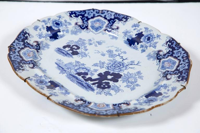 Chinoiserie Ironstone Platter, Ridgway & Morley, England, circa 1845 In Good Condition For Sale In Chappaqua, NY