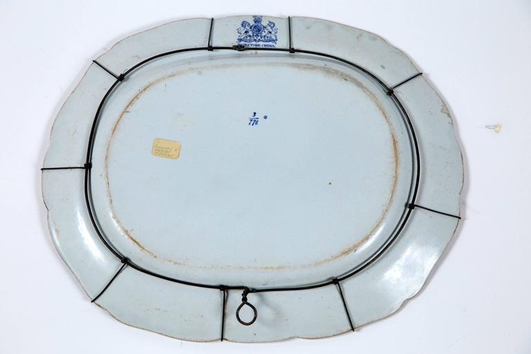 19th Century Chinoiserie Ironstone Platter, Ridgway & Morley, England, circa 1845 For Sale