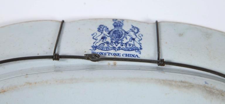 Chinoiserie Ironstone Platter, Ridgway & Morley, England, circa 1845 For Sale 1