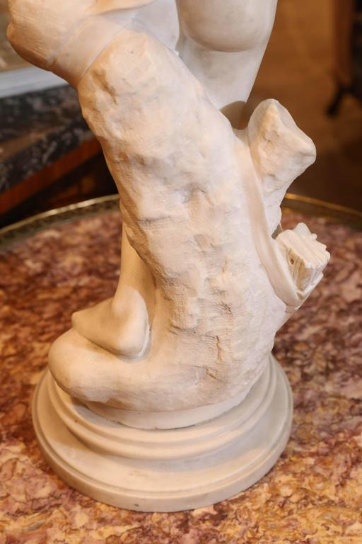 19th Century Marble Sculpture by Denise Delavigne