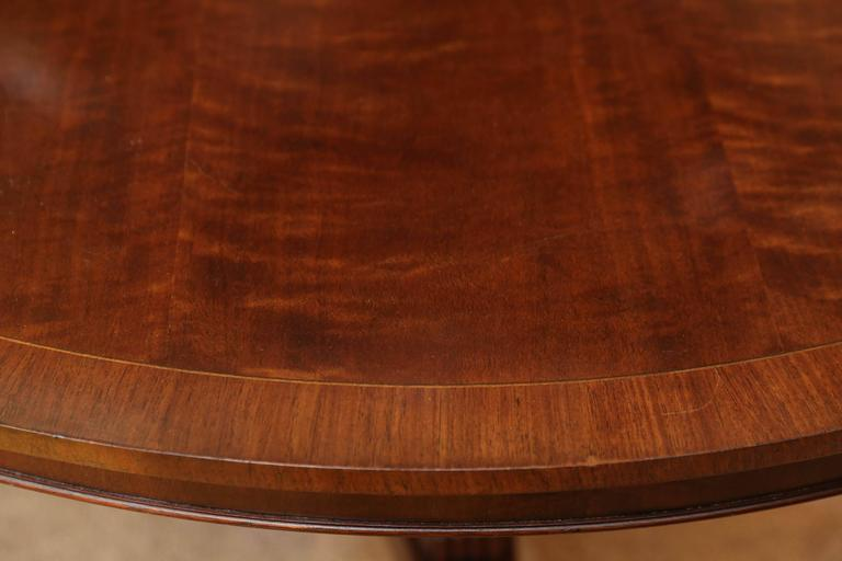 English Regency Style Mahogany Dining Table or Center Table For Sale