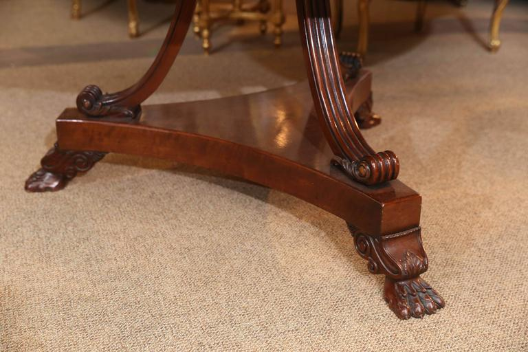 Regency Style Mahogany Dining Table or Center Table In Excellent Condition For Sale In Houston, TX
