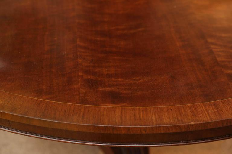 Regency Style Mahogany Dining Table or Center Table For Sale 3