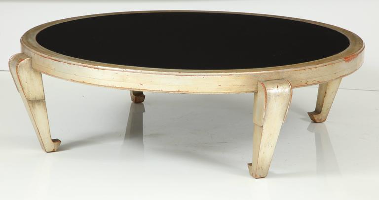 Mid-20th Century James Mont Silver Leafed Coffee Table For Sale