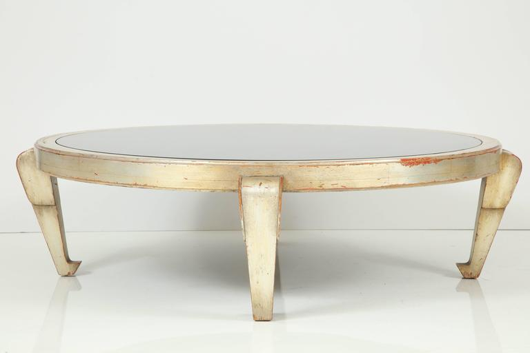 James Mont Silver Leafed Coffee Table For Sale 2