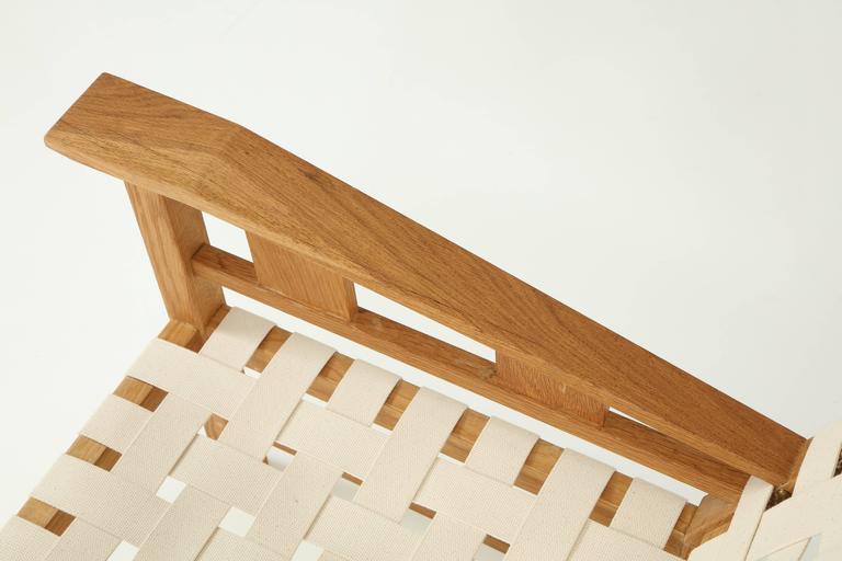 Francis Jourdain Webbed Oak Chairs For Sale 1
