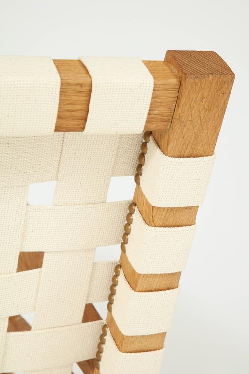 Francis Jourdain Webbed Oak Chairs For Sale 3