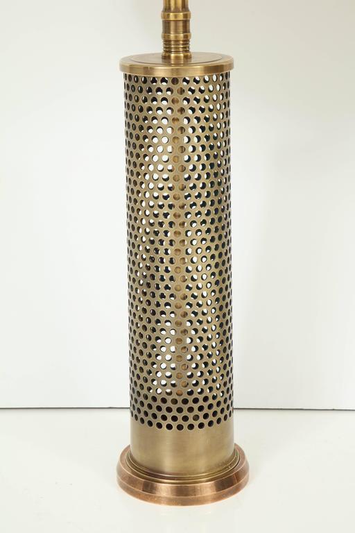 Mid-Century Modern Pair of Studio Bronze Lamps For Sale