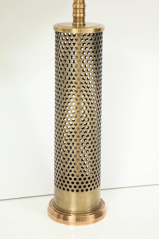 American Pair of Studio Bronze Lamps For Sale