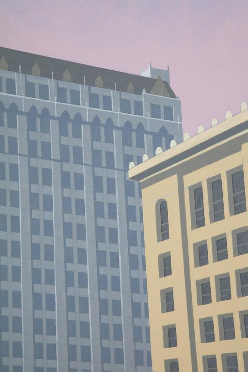 Woolworth An Original Painting by Lynn Curlee In Excellent Condition For Sale In New York, NY