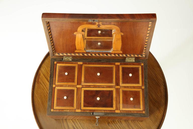 Danish Empire Mahogany and Inlaid Box, Early 19th Century For Sale 1