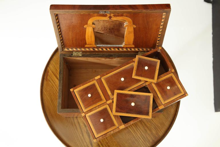 Danish Empire Mahogany and Inlaid Box, Early 19th Century For Sale 2