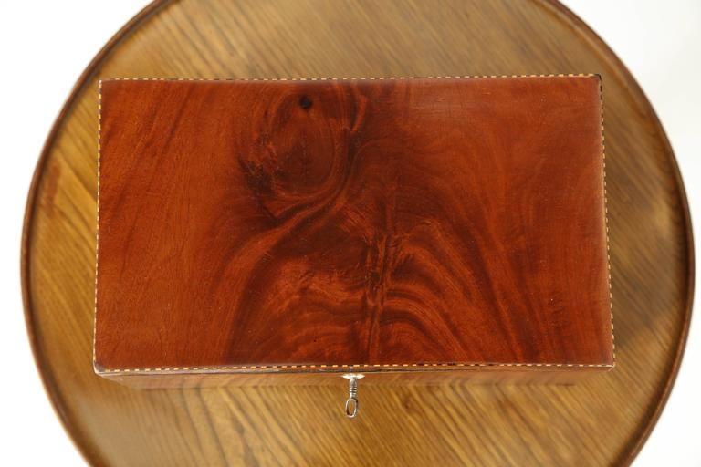 Danish Empire Mahogany and Inlaid Box, Early 19th Century For Sale 3
