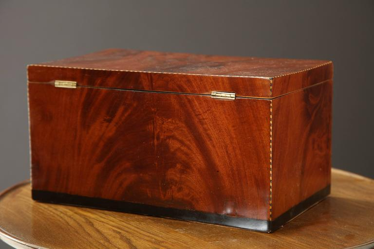 Danish Empire Mahogany and Inlaid Box, Early 19th Century For Sale 4