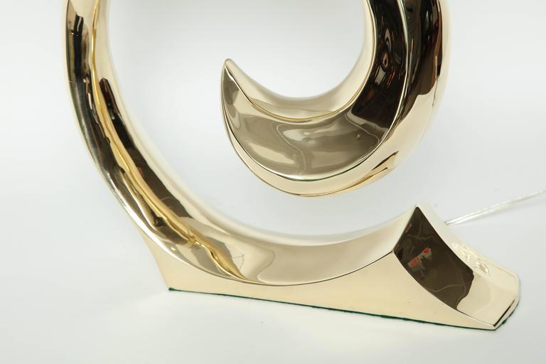 American Modern Pierre Cardin Brass Lamps For Sale