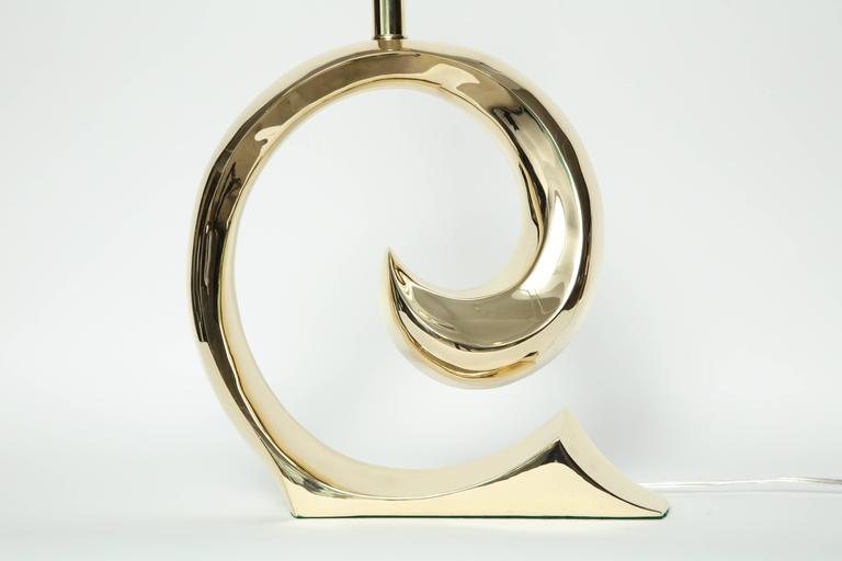 Pierre Cardin Brass Lamps For Sale 2