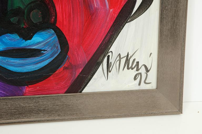 Modern Peter Keil Abstract Portrait For Sale