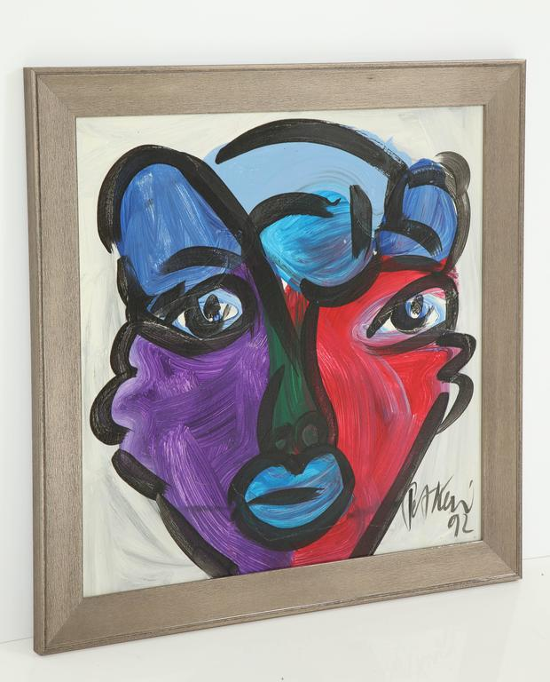 Peter Keil Abstract Portrait In Excellent Condition For Sale In New York, NY