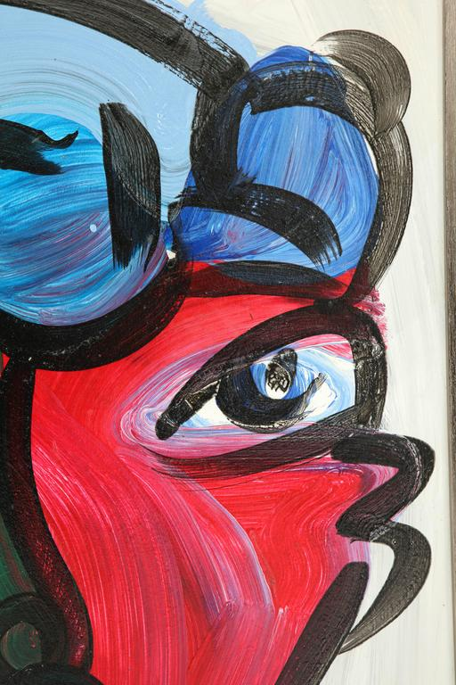 20th Century Peter Keil Abstract Portrait For Sale