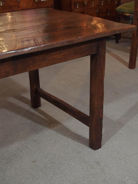 Antique French Provincial Chestnut Farm Table With End