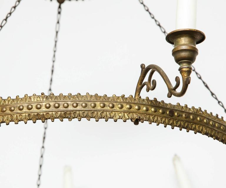 Brass Ring Candle Chandelier At 1stdibs