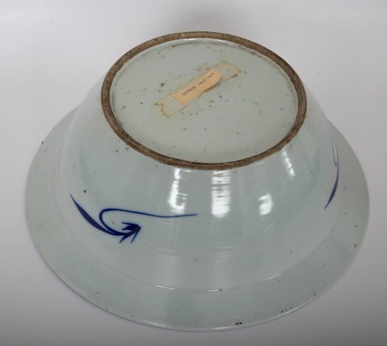 Earthenware Pair of Chinese Blue and White Bowls For Sale