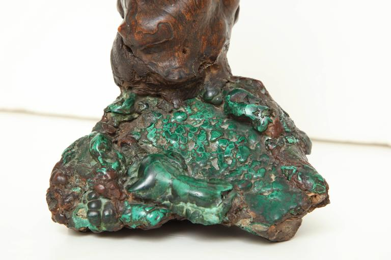 19th Century Chinese Malachite and Rootwood Scholar's Object 4