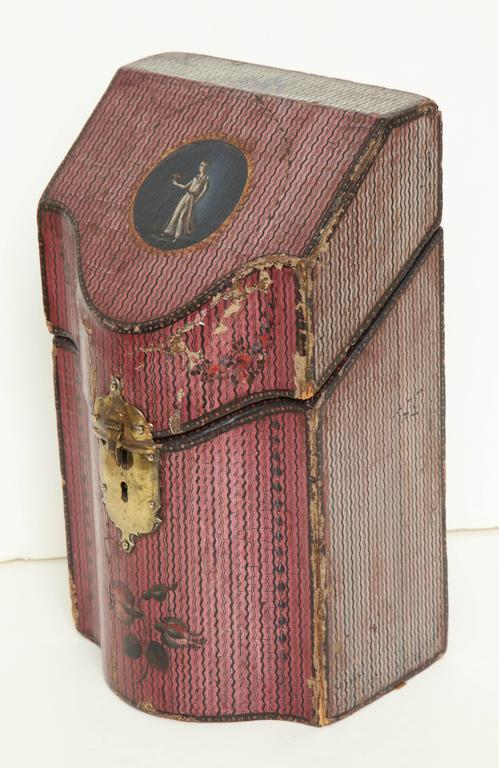Late 18th Century English Painted Neoclassical Knife Box 4