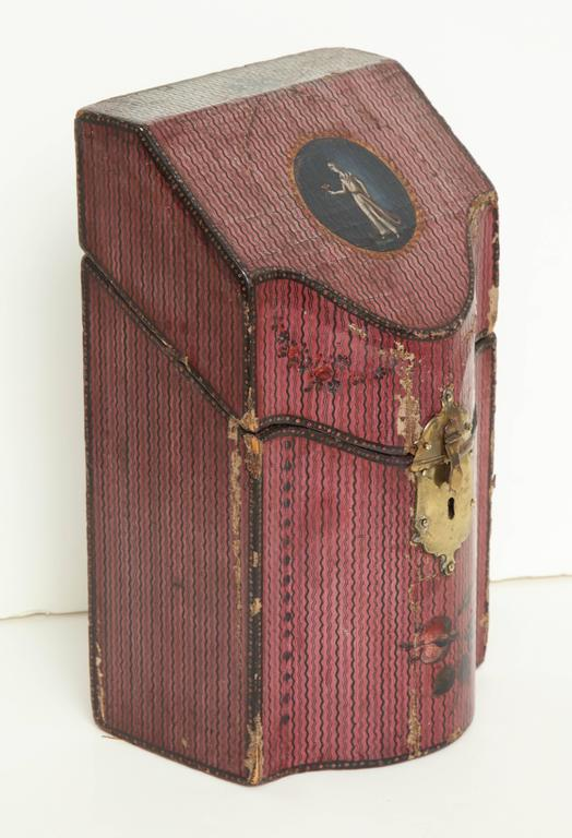 Late 18th Century English Painted Neoclassical Knife Box 5