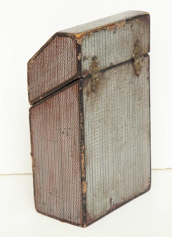 Late 18th Century English Painted Neoclassical Knife Box 6