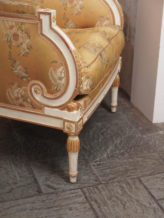 French Painted Upholstered Louis XVI Style Chair, circa 1920 4