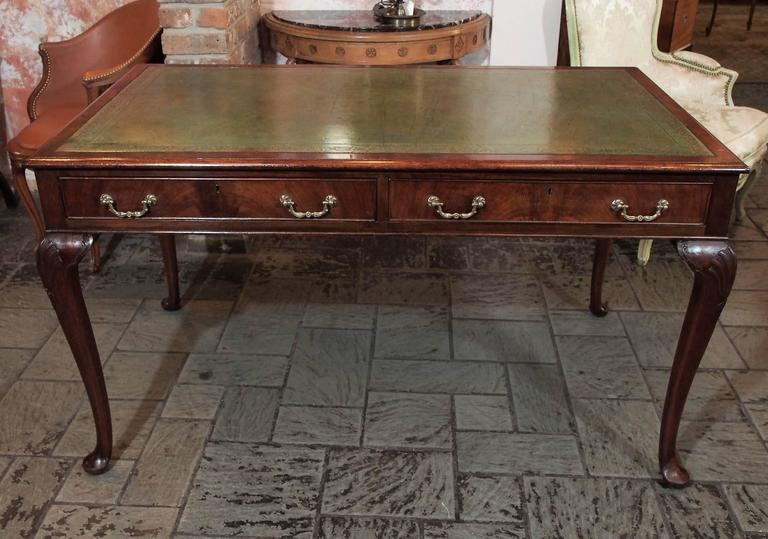 Antique English Mahogany Writing Table Georgian Style 2