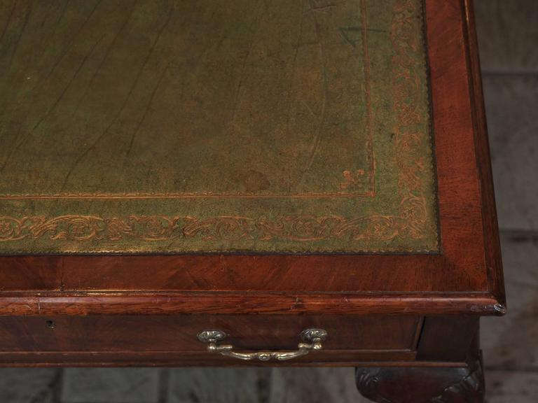 Antique English Mahogany Writing Table Georgian Style 4