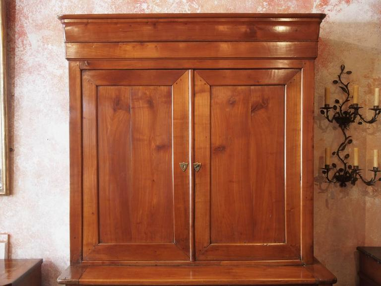 Very Fine Antique French Fruitwood Buffet-A-Deux-Corps, Louis Philippe In Good Condition For Sale In New Orleans, LA