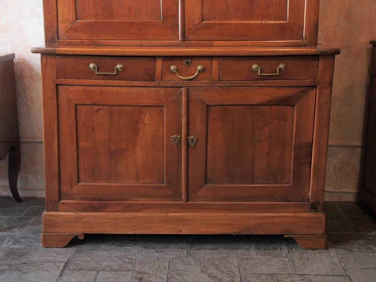 Mid-19th Century Very Fine Antique French Fruitwood Buffet-A-Deux-Corps, Louis Philippe For Sale