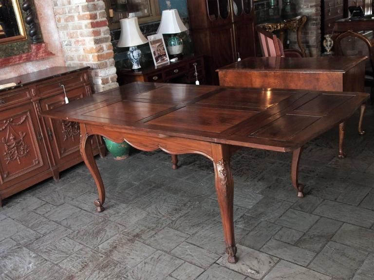 Antique French Country Draw-Leaf Table Fruitwood and Mahogany 2
