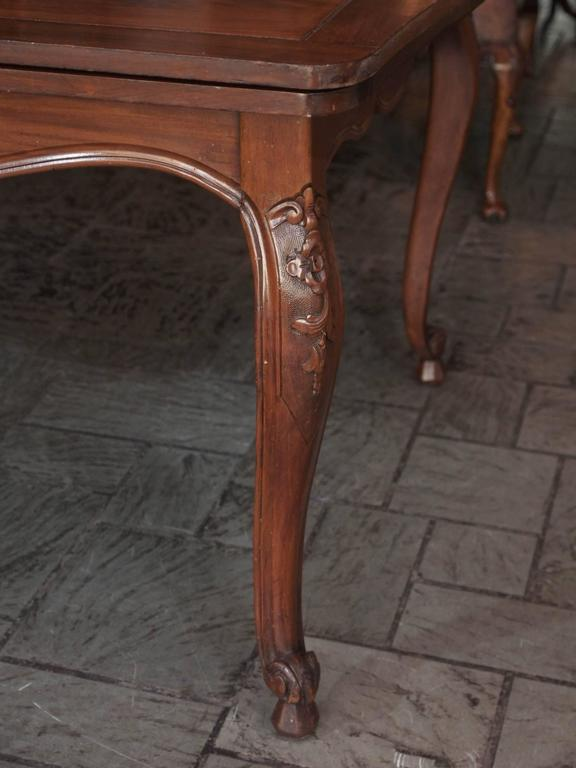 Antique French Country Draw-Leaf Table Fruitwood and Mahogany 6