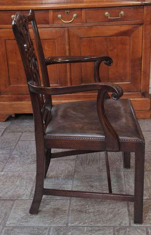 Set of Eight Antique English Georgian Mahogany Dining Chairs 5