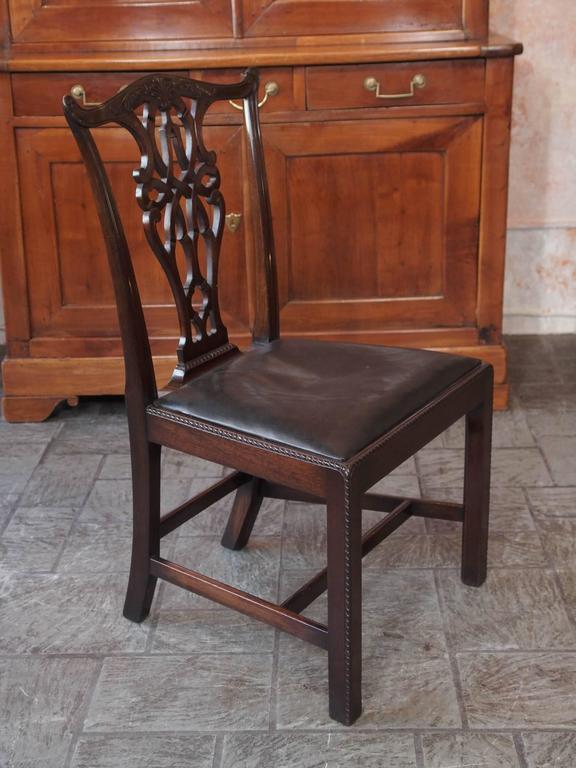 Set of Eight Antique English Georgian Mahogany Dining Chairs 7