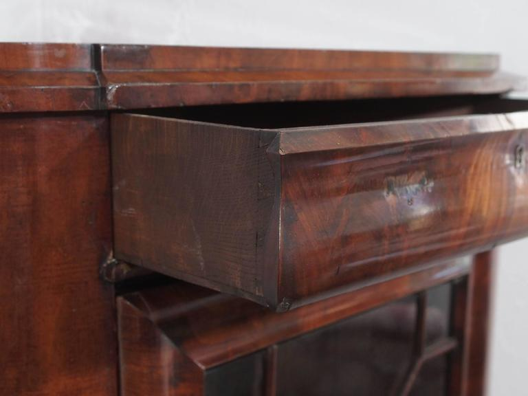 Louis Philippe Open Bookcase: Antique French Mahogany Corner Cabinet Or Bookcase Louis