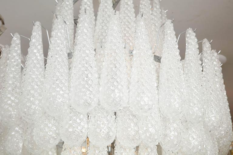 Modern Gorgeous Murano Honeycomb Glass Pendant Chandelier For Sale