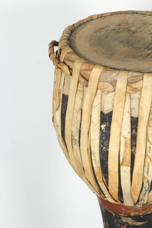 Vintage Ceremonial Hill Tribe Drums from Thailand For Sale 2