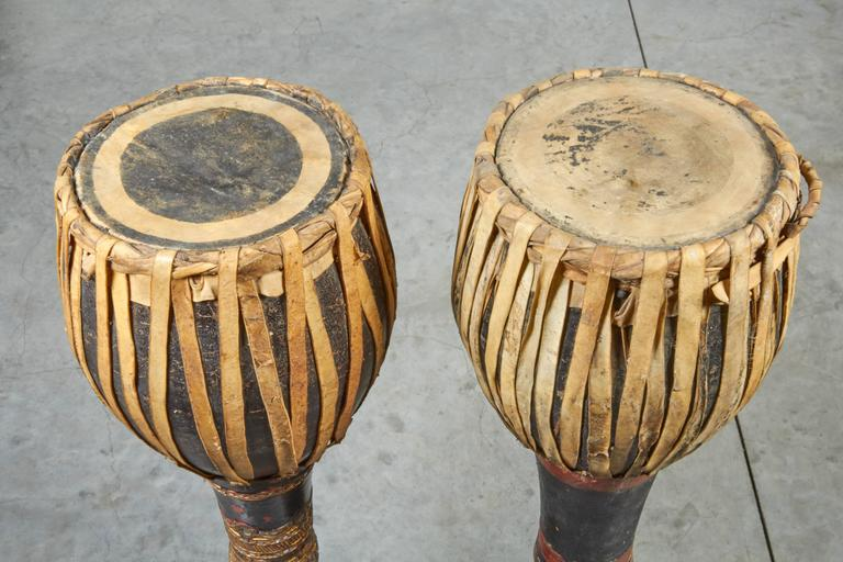 Vintage Ceremonial Hill Tribe Drums from Thailand For Sale 5
