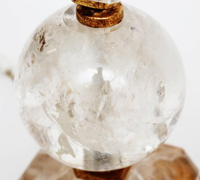 Rock Crystal and Giltwood Table Lamps For Sale 1