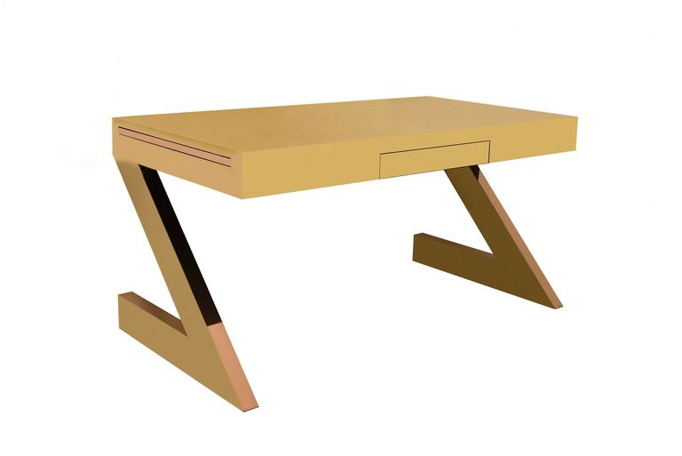Gabriella Crespi, Z Desk Bronze and Brass 2