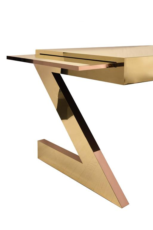 Gabriella Crespi, Z Desk Bronze and Brass 4