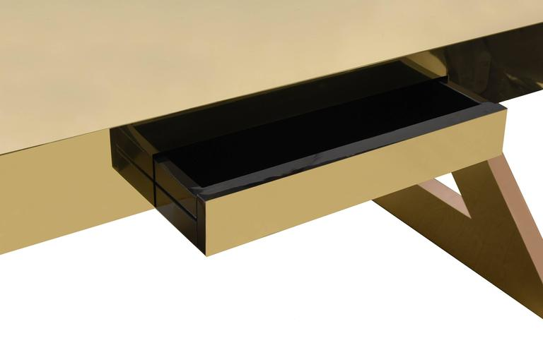 Gabriella Crespi, Z Desk Bronze and Brass 6