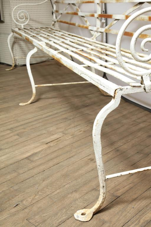 Long Wrought Iron Bench For Sale 2